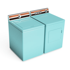 Download free 3D printer templates Dollhouse Washer & Dryer 1960s style, ericcherry