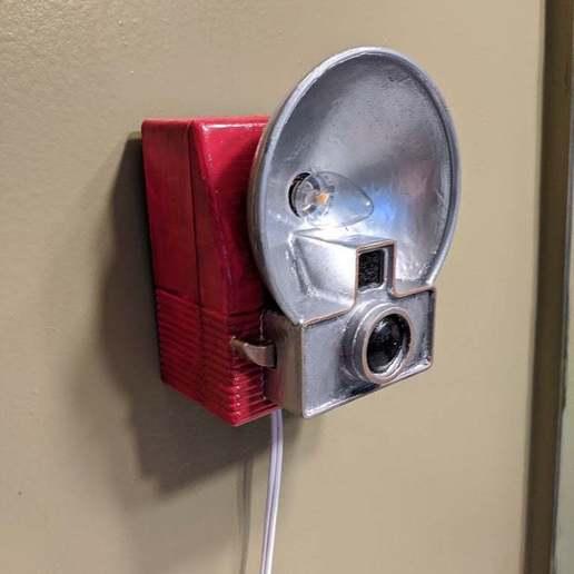 Download free STL file Camera Night Light • Object to 3D print, ericcherry