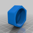 a1c1070ad1594462e8dc710b37498b17.png Download free STL file Hexagon Screw Cap Container • 3D printable template, ericcherry