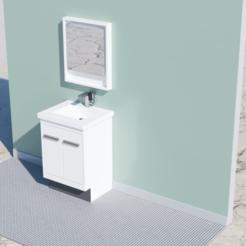 Impresiones 3D gratis Dollhouse Vanity & Mirror, ericcherry