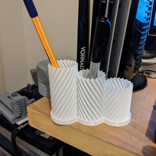 Download free 3D printer designs Helical Turning Vases, ericcherry