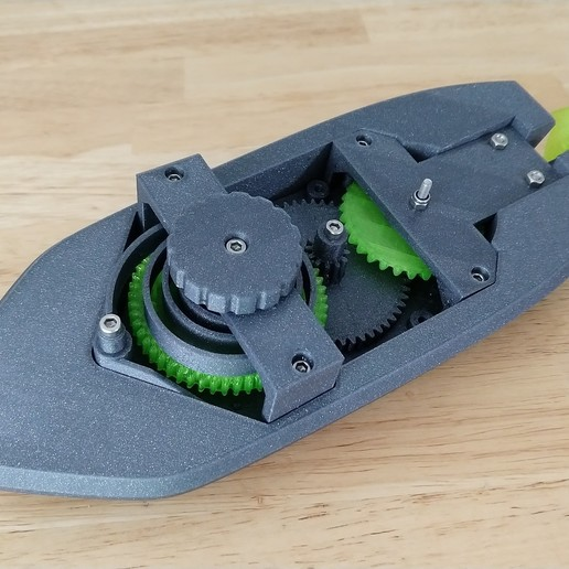 IMG_20190318_164206498.jpg Download free STL file wind-up Bathtub Boat V4 - Badewannen Boot zum Aufziehen - Funktionsfähig • Model to 3D print, GreenDot