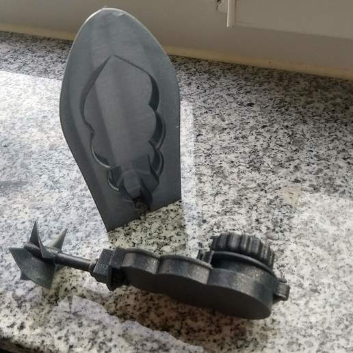 IMG_20190814_091259675_HDR.jpg Download free STL file Mini wind-up boat prototype screwless • 3D printer object, GreenDot