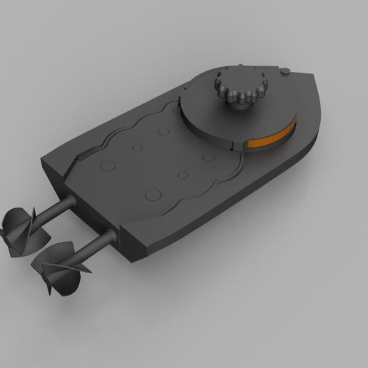 Pic1.PNG Télécharger fichier STL gratuit mini Wind-Up Boat Dual Drive - sans vis - impression complète en 3d • Plan imprimable en 3D, GreenDot