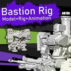 bastion_square.jpg Download STL file Bastion Model+Rig+Animation • 3D printable template, SebaDom