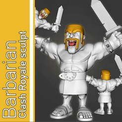 barbarian for marketplace2.jpg Télécharger fichier OBJ Barbare de Clash Royale • Objet à imprimer en 3D, SebaDom