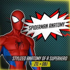 Spiderman Anatomy square.jpg Download STL file Spiderman Anatomy • 3D printing template, SebaDom