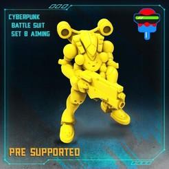 1.jpg Download STL file CYBERPUNK BATTLE SUIT SET B • 3D print template, Papsikels