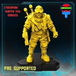 720X720-018-cyberpunk-hunter-full-goggles.jpg Download STL file CYBERPUNK WITCHER • 3D printing object, Papsikels