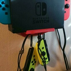 20210106_161730.jpg Download STL file Nintendo Switch Wall Holder • Object to 3D print, 3dartsvi