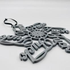 v3.jpg Download STL file Fuck Covid Snowflake • 3D printer object, mwollner13
