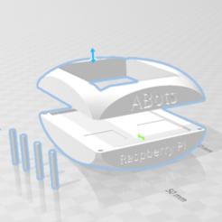 Captura.PNG 3.PNG Download 3MF file ABots Raspberry Pi case 1 • 3D printer model, meceip54
