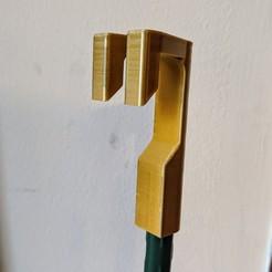 Fan_chain_puller__stake.jpg Download free STL file Ceiling fan chain puller, mounts on garden stake or Swiffer pole. • 3D printer object, BtJ