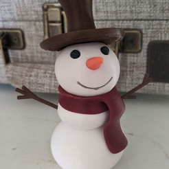Printy!.jpg Download free STL file Printy the Snowman! (multi-color, assembled from one extruder) • 3D printer object, BtJ