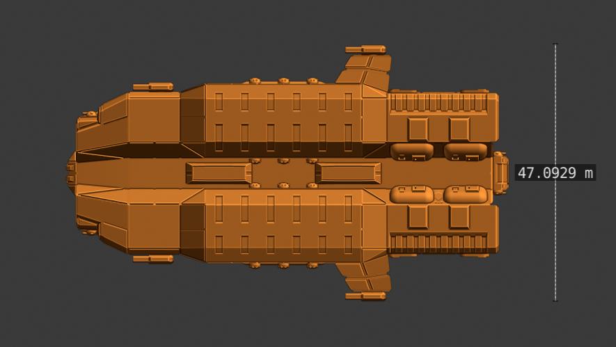 Plague Class CV-profile.PNG Descargar archivo STL gratis Nave estelar de empuje completo en miniatura • Plan de la impresora 3D, Go0gleplex