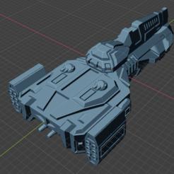 Bulldog Class Attack FF.PNG Download free STL file Full Thrust Starship Miniature  • Design to 3D print, Go0gleplex