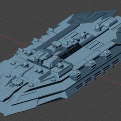 Coral Reef Class Strike CV.PNG Download free STL file Full Thrust Starship Miniature  • Design to 3D print, Go0gleplex