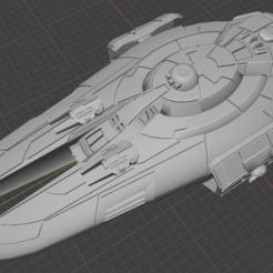 Kamorri-BB.PNG Descargar archivo STL gratis Nave estelar de empuje completo en miniatura • Plan de la impresora 3D, Go0gleplex