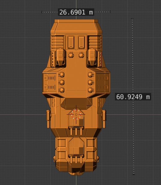 Menace Class BC-scale.PNG Descargar archivo STL gratis Full Thrust Starship Miniature  • Plan de la impresora 3D, Go0gleplex