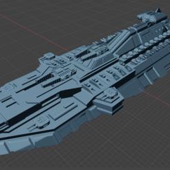Download free STL Full Thrust Starship Miniature , Go0gleplex