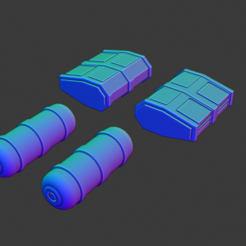 Steinbeck Containers.PNG Download free STL file Full Thrust Starship Miniature  • Design to 3D print, Go0gleplex