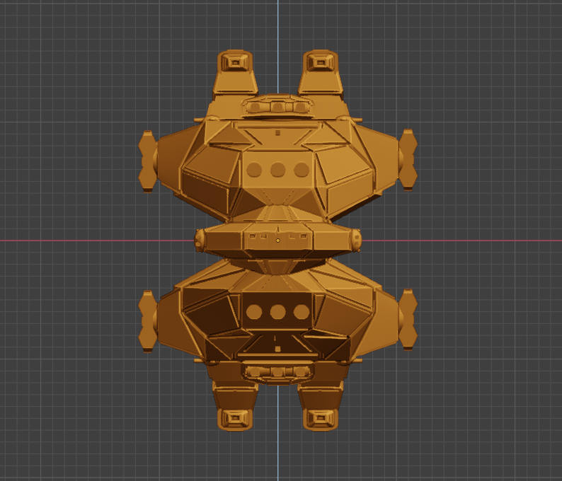 Havoc Class HC-bow.PNG Descargar archivo STL gratis Full Thrust Starship Miniature  • Plan de la impresora 3D, Go0gleplex