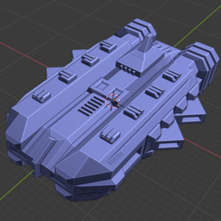 Packmaster Class CV.PNG Download free STL file Stars and Steel Ship Miniatures • 3D print template, Go0gleplex