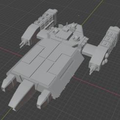 Tennae-DD.PNG Download free STL file Full Thrust Starship Miniature  • Design to 3D print, Go0gleplex