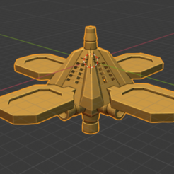 Orbital Battery.PNG Download free STL file Stars and Steel Ship Miniatures • 3D print template, Go0gleplex