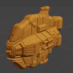 Bane Class DD.PNG Download free STL file Full Thrust Starship Miniature  • Design to 3D print, Go0gleplex