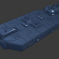 Paul-Bunyan_Class-H-Freighter.PNG Download free STL file Full Thrust Starship Miniature  • Design to 3D print, Go0gleplex