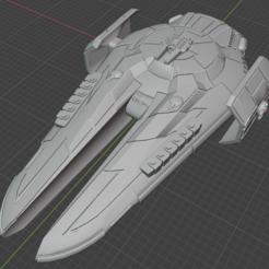 Kamorri-Msl-Cruiser.PNG Descargar archivo STL gratis Nave estelar de empuje completo en miniatura • Plan de la impresora 3D, Go0gleplex