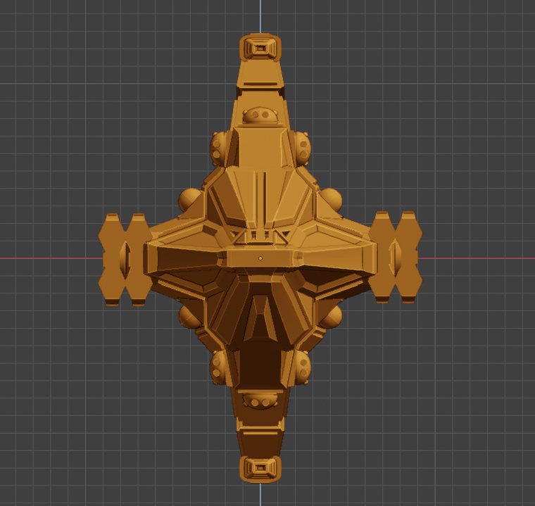 Discord Class CL-bow.PNG Descargar archivo STL gratis Full Thrust Starship Miniature  • Plan de la impresora 3D, Go0gleplex