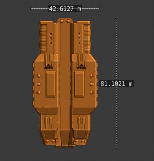 Plague Class CV-scale.PNG Descargar archivo STL gratis Nave estelar de empuje completo en miniatura • Plan de la impresora 3D, Go0gleplex