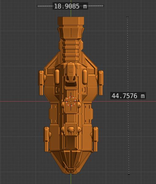 Discord Class CL-scale.PNG Descargar archivo STL gratis Full Thrust Starship Miniature  • Plan de la impresora 3D, Go0gleplex