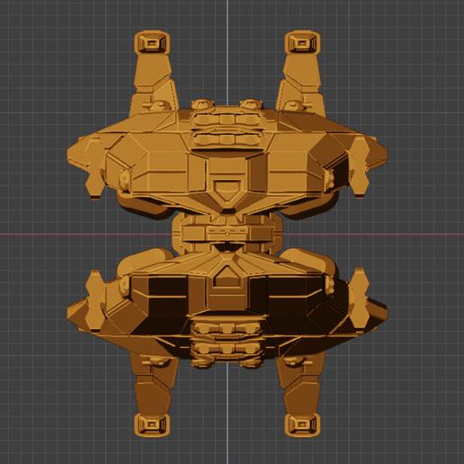 Menace Class BC-bow.PNG Descargar archivo STL gratis Full Thrust Starship Miniature  • Plan de la impresora 3D, Go0gleplex