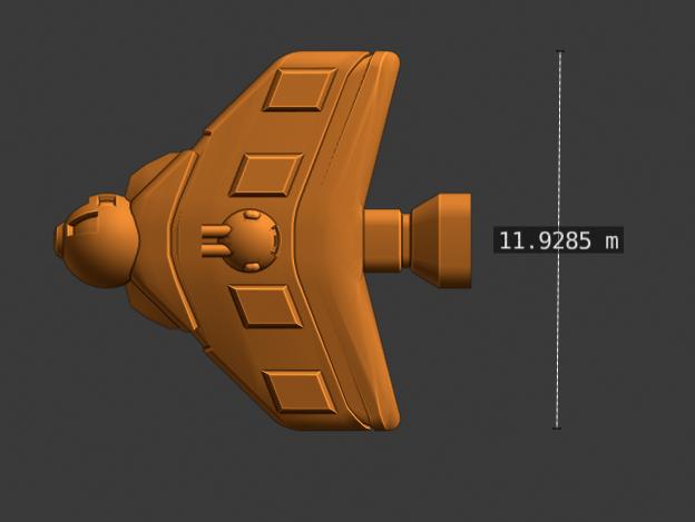 Vex Class Fighter-profile.PNG Descargar archivo STL gratis Full Thrust Starship Miniature  • Plan de la impresora 3D, Go0gleplex