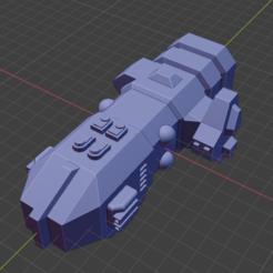 Gwyllgi Class FF.PNG Download free STL file Stars and Steel Ship Miniatures • 3D print template, Go0gleplex