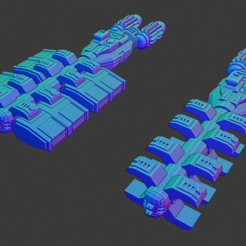 Steinbeck Class M-Freighter.PNG Download free STL file Full Thrust Starship Miniature  • Design to 3D print, Go0gleplex