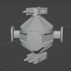 Defense-Satellite.PNG Download free STL file Full Thrust Starship Miniature  • Design to 3D print, Go0gleplex