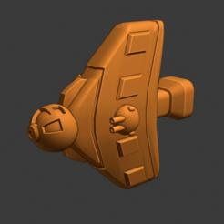 Vex Class Fighter.PNG Download free STL file Full Thrust Starship Miniature  • Design to 3D print, Go0gleplex