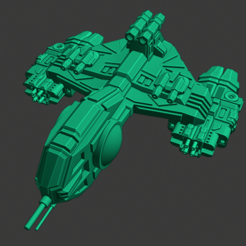 Yomi-Okami-Destroyer.PNG Download free STL file Full Thrust Starship Miniature  • Design to 3D print, Go0gleplex