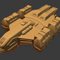 Husky Class Tourist Liner.PNG Download free STL file Full Thrust Starship Miniature  • Design to 3D print, Go0gleplex