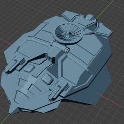 Vampire Class Scout Cvt.PNG Download free STL file Full Thrust Starship Miniature  • Design to 3D print, Go0gleplex