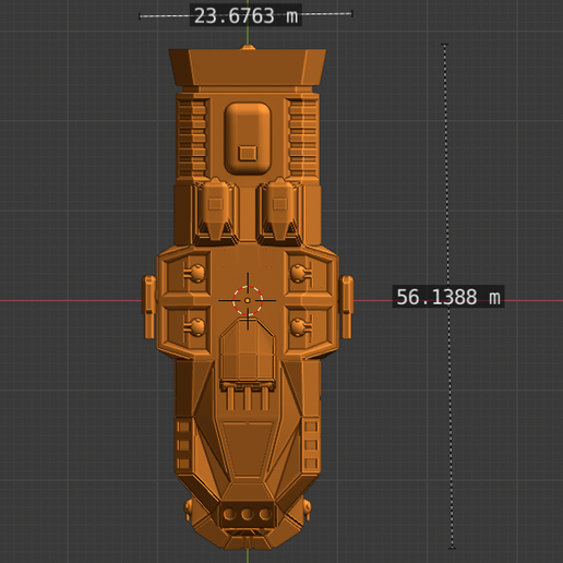 Havoc Class HC-scale.PNG Descargar archivo STL gratis Full Thrust Starship Miniature  • Plan de la impresora 3D, Go0gleplex