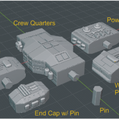 Connectors-labels.PNG Download free STL file Full Thrust Starship Miniature  • Design to 3D print, Go0gleplex