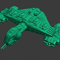 Yomi-Yuki-onna-Lt Cruiser.PNG Download free STL file Full Thrust Starship Miniature  • Design to 3D print, Go0gleplex