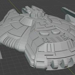 Attack-DD-top-rear.PNG Download free STL file Full Thrust Starship Miniature  • Design to 3D print, Go0gleplex