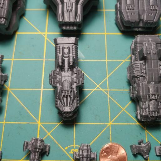 20200915_201745.jpg Descargar archivo STL gratis Full Thrust Starship Miniature  • Plan de la impresora 3D, Go0gleplex