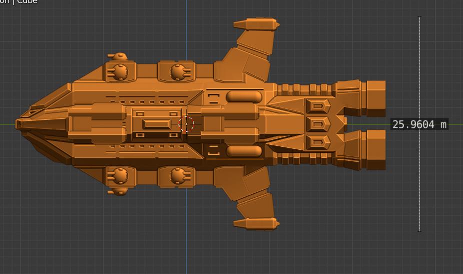 Discord Class CL-profile.PNG Descargar archivo STL gratis Full Thrust Starship Miniature  • Plan de la impresora 3D, Go0gleplex
